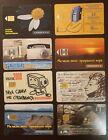 Telefonwertkarten Russland 1990er Jahre Lot 8 Stück, davon 1 aus Zypern