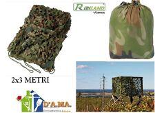 RETE MIMETICA CAMOUFLAGE CACCIA PESCA BIRDWATCHING WILD WATCHING 2X3 M RIBILAND
