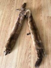 Fur Pelts Vintage Mink Stole Wrap Two Minks