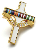 VIETNAM VETERANS DAY BADGE - LONG TAN CROSS WITH RIBBON BAR ANZAC BADGE