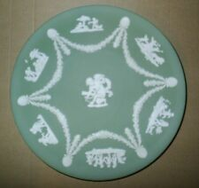 Wedgwood Jasperware Sage Green Round Cupid Plate