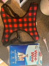 New listing dog harness large plaid with puppy pads
