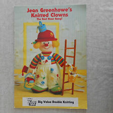 Jean Greenhowe's Knitted Clowns Knitting Patterns Book Free p&p