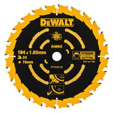 DeWALT DT10302 Extreme Circular Saw Blade 184mm x 1.65mm x 16mm 24T 2 x Life