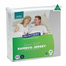 Bamboo Fitted Mattress Protector Queen