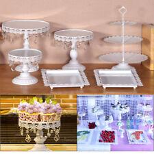 6X/Set Cake Cupcake Stand Display Dessert Holder Wedding Party Crystal White Hot