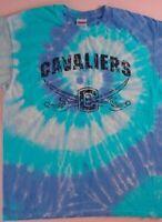 Cavaliers Tie Dye T-Shirt Adult SZ M/L Blue Purple Cavs Cotton High School Sword