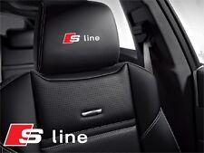 5x Audi S-line Aufkleber für Ledersitze S3 S4 S5 S6 Plus S7 S8 Quattro Sportback