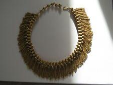 Hochwertiges Modeschmuck Designer Collier Pharao Cleopatra Quasten Trifari US(?)