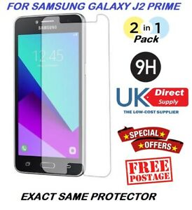 2 in 1 Pack Tempered Glass Protector Screen Protection For Samsung J2 Prime