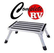 Caravan Entry Step Stool Door Mat 7-22cm High RV Steps Parts Camping Folding Fan