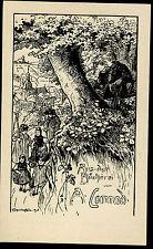 EXLIBRIS,252,Oskar Schwindrazheim - Prozession - große Version 1906