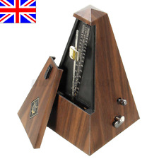 More details for standard universal metronome mechanical music timer black for piano guitar wood