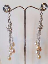 Beautiful 925 sterling silver drop Freshwater Pearl earrings