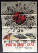 VANISHING POINT SPANISH 1 SHEET POSTER  BARRY NEWMAN DODGE CHALLENGER RARE