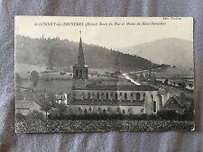 cpa 69 St Bonnet des Bruyères Route du Plat et Monts du Haut Beaujolais