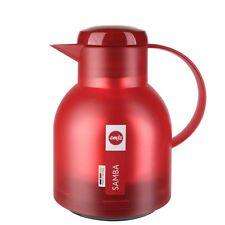 Samba, Caraffa Termica 1 Litro Rosso, Plastica, Emsa