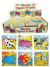 Bulk Wholesale Job Lot 48 Wooden Animal Jigsaw Puzzles Toys