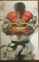 PROMO VIDEO GAME POSTER STREET FIGHTER 5 (V) DOUBLE-SIDE POSTER NEW