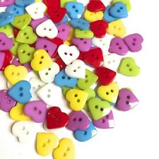 100 Pack Of Love Heat Buttons for Craft Cardmaking Scrapbooking Embellishments