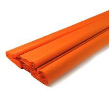 papier crépon   Orange rouleau 45cm x 2m NEUF
