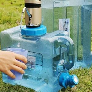 6/8/13L Camping Water Storage Container Tap Tank Tote Car Portable Picnic P6O8