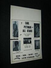 Original Colorcraft Jazz & Education Legend Earl Pittman All Stars Stock Poster