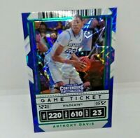 Panini Contenders Draft Green Explosion Variant Game Ticket Anthony Davis #7