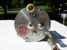 Vintage Ocean City Swan Red Medallion No. 966 Fishing Reel - Engraved Side Plate