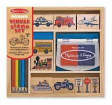 Melissa & Doug - Wooden Vehicle Stamp Set MND2409