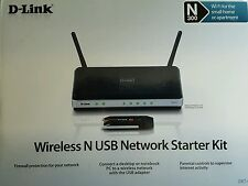 Wireless N 300 Router Bundle D-Link DIR-615 USB Network Starter Kit