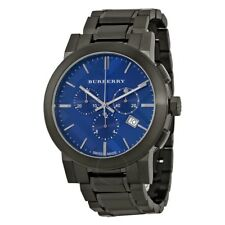 Burberry Men's Swiss Chronograph Gray Ion-Plated Stainless Bracelet Watch BU9365