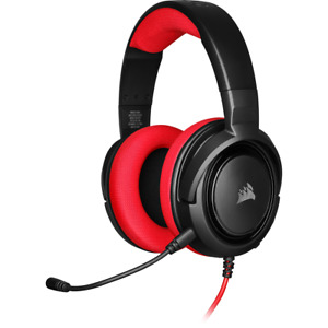 Corsair HS35 Red Stereo Gaming Headset Microphone Wired 3.5mm PC Xbox One PS4