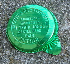 (milk bottle) 100 old foil caps ( 38mm tabbed ) : Tegid Jones Ruthin WALES