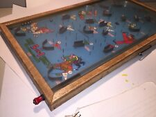 vintage wood and glass sport pinball game