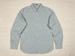 "Men's MIU MIU Classic Striped Long Sleeve Dress Shirt size 42cm/16.5"" L/XL VGC"