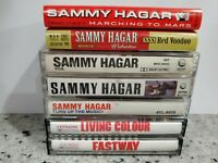 Lot of 5 Metal Cassette Tapes Sammy Hagar Living Colour Fastway