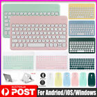 【Round Key】Wireless Bluetooth Keyboard&Cordless Mouse For iPad Android Tablet PC