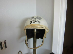 Vintage Floyd Clymer Safety Helmet Motorcycle Auto Racing Made In France