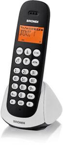 Telefono Cordless Brondi Adara Nero/Bianco Retroilluminato Fisso Casa