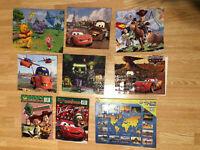 lot of 9 puzzles