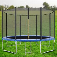 New 10FT Trampoline Home Children Indoor Outdoor Trampoline+Safety Enclosure Net