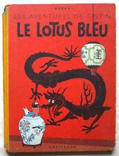 Tintin Le Lotus Bleu HERGE éd Casterman B 6 1952