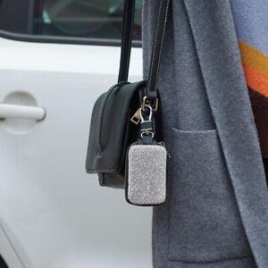 PU Bling Rhinestone Car Key Keychain Wallet Case Pouch Purse Keys Bag Ladies