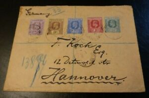 Cayman Islands Registered Cover to Germany 1910