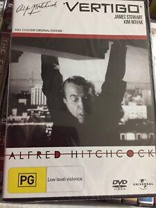 VERTIGO - ALFRED HITCHCOCK - JAMES STEWART/KIM NOVAK - NEW SEALED *FREE STD POST