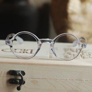 Retro round crystal acetate eyeglasses mens johnny depp clear optical RX glasses