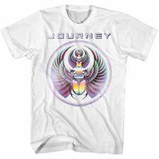 Journey Band Scarab Captured 81 White Men's T shirt Album Cover World Tour Tee