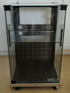 Vintage JVC Glass Hi Fi Cabinet Unit with Castors and Shelf