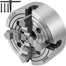 """K72-200 8"""" 4 Jaw Lathe Chuck Independent Wood Turning 8 Inch Front Mounting"""